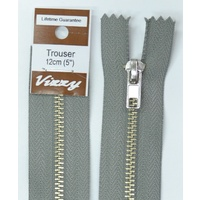 Vizzy Trouser Zip 12cm PEARL GREY, A Quality Brand Name Zipper