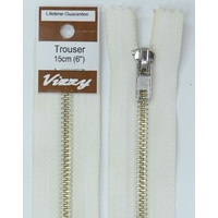 Vizzy Trouser Zip 15cm WHITE, A Quality Brand Name Zipper