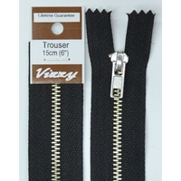 Vizzy Trouser Zip 15cm BLACK, A Quality Brand Name Zipper