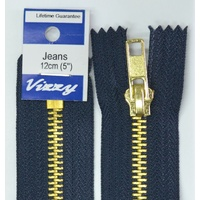 Vizzy Jeans Zip 12cm 59 FRENCH NAVY, A Quality Brand Name Zipper
