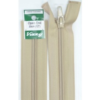 Vizzy Open End Zip 30cm 07 NATURAL, A Quality Brand Name Zipper