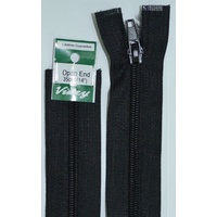 Vizzy Open End Zip 35cm, Colour 02 BLACK, A Quality Brand Name Zipper.