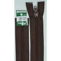 Vizzy Open End Zip 35cm 14 BROWN, A Quality Brand Name Zipper