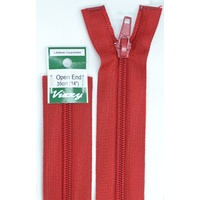 Vizzy Open End Zip 35cm, Colour 32 DARK RED, A Quality Brand Name Zipper