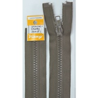 Vizzy Chunky Open End Zip 20cm, Colour 12 CHESTNUT, A Quality Brand Name Zipper