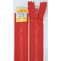 Vizzy Chunky Open End Zip 20cm, Colour 31 RED
