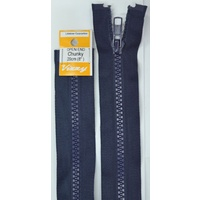 Vizzy Chunky Open End Zip 20cm, Colour 58 NAVY, A Quality Brand Name Zipper