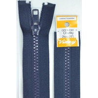 Vizzy Chunky Open End Zip 25cm, Colour 58 NAVY, A Quality Brand Name Zipper