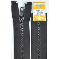 Vizzy Chunky Open End Zip 40cm, Colour 02 BLACK, A Quality Brand Name Zipper