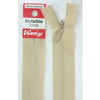 Vizzy Invisible Zip 20cm, Colour 07 NATURAL, A Quality Brand Name Zipper