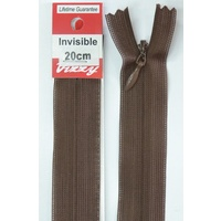 Vizzy Invisible Zip 20cm, Colour 14 BROWN, A Quality Brand Name Zipper