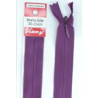 Vizzy Invisible Zip 30-35cm, Colour 118 GRAPE