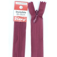 Vizzy Invisible Zip 30-35cm, Colour 34 BURGUNDY, A Quality Brand Name Zipper