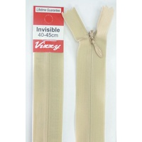 Vizzy Invisible Zip 40-45cm, Colour 07 NATURAL, A Quality Brand Name Zipper