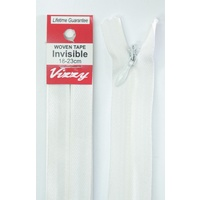 Vizzy Woven Tape Invisible Zip 18-23cm Colour 66 BONE, A Quality Brand Name Zipper