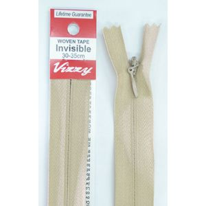 Vizzy Woven Tape Invisible Zip 30-35cm Colour 07 NATURAL, A Quality Brand Name Zipper