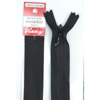 Vizzy Woven Tape Invisible Zip 55cm Colour 02 BLACK, A Quality Brand Name Zipper