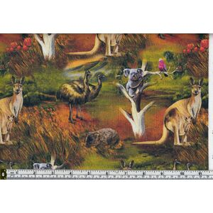 Australia, Wildlife Valley Allover 02, 8107/02, 110cm Wide 100% Cotton Fabric
