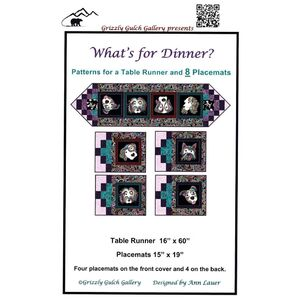 Dog On It: What's For Dinner Table Runner Pattern By Ann Lauer, Benartex Fabrics