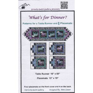 Horsen Around, Whats For Dinner Table Runner & Placemat Patterns
