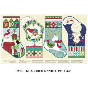 "Benartex Fabrics, Better Not Pout He's Making a List Panel 61 x 106cm (24""x 42"")"