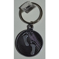 Footprints KeyRing, Metal Token With Message, Beautiful Item, 37mm Diameter