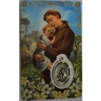 ST ANTHONY, Window Prayer Card & Charm, 54mm x 85mm, Inspirational Card