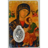 MOTHER OF PERPETUAL HELP, Window Prayer Card & Charm 54x85mm, Inspirational Card