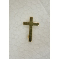 Priest Lapel Pin, Cross, 17mm x 25mm, Quality Made in Italy, Gold Tone Finish