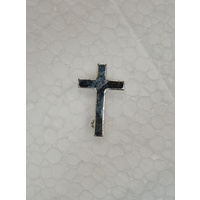 Priest Lapel Pin, Cross 17mm x 25mm, Quality Made in Italy, Silver Tone Finish