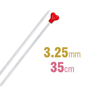 Addi Knitting Needle 35cm x 3.25mm, Aluminium Heart
