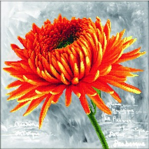 ORANGE DAHLIA MC450.017, No Count Cross Stitch 43 x 43cm