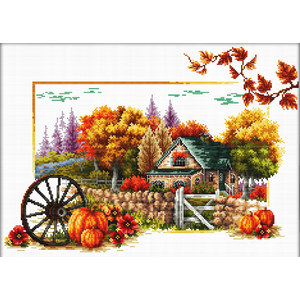 Needleart World No Count Cross Stitch Kit AUTUMN FARM, 42 x 29cm