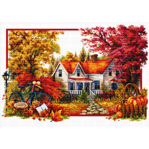 No Count Cross Stitch Kit AUTUMN COMES, 59 x 40cm by NeedleArt World