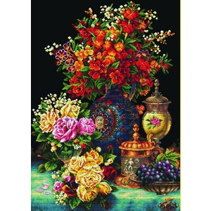 CLASSIC FLOWERS MC850.034, No Count Cross Stitch Kit, 58 x 81cm