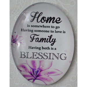 Magnet, 54 x 44mm Glass, Home Family Blessing