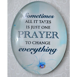 Magnet, 54 x 44mm Glass, Just One Prayer