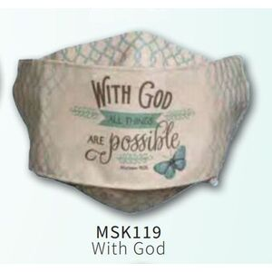 Face MASK, With God, All Things Are Possible