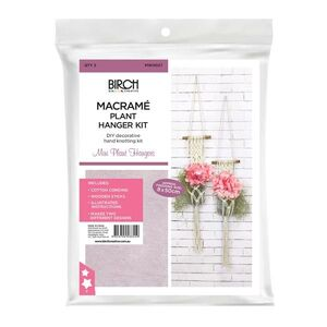 Birch Macrame Wall Hanging Kit, MINI PLANT HANGERS, Ap. 8cm x 50cm, MWH027