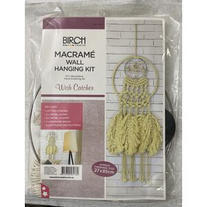 Birch Macrame Wall Hanging Kit, WISH CATCHER, Approx. 27cm x 85cm, MWHS08