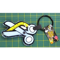 Scissor & Tape Shape, Sew Bright LED Novelty Soft Sewing Theme Keychain