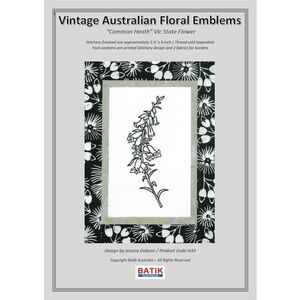 COMMON HEATH Vintage Australian Floral Emblems Stitchery Kit N33
