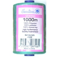 Hemline Polyester Thread 1000m Spool, JADE
