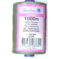Hemline Polyester Thread 1000m Spool, OLIVE