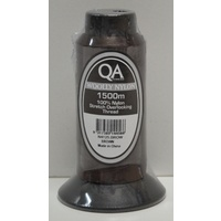 QA Woolly Nylon 1500m Cone, BROWN, 100% Nylon Stretch Overlocking Thread, Serger Thread