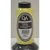 QA Woolly Nylon 1500m Cone, LEMON, 100% Nylon Stretch Overlocking Thread, Serger Thread