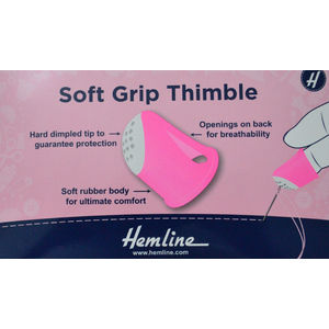 Soft Grip Thimble, Hard Dimpled Tip, Soft Rubber Body