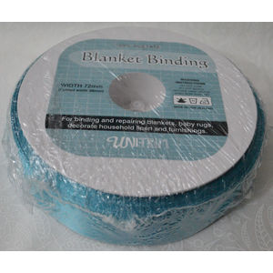 Uni-Trim Satin Blanket Binding, 72mm Wide, Colour TEAL, FULL 30m ROLL