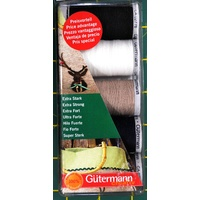 GUTERMANN, 5 Extra Strong Polyester 100m Spool Pack, Upholstery, Jeans, Canvas
