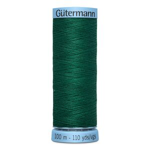 Gutermann Silk Thread, Colour 403 EMERALD GREEN, 100 Metre Spool